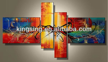 High quality handpainted abstract group oil painting Modern abstract philippine oil paintings