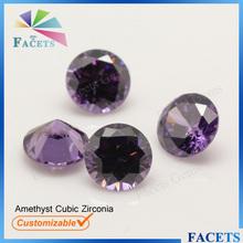 Facets Gems Factory Sale Amethyst Gemstone Samples Free Round Brilliant Cut Amethyst Zircon Price