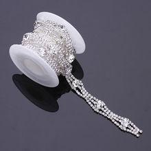 Wholesale strass roll rhinestone close cup chain rhinestone lace roll chain
