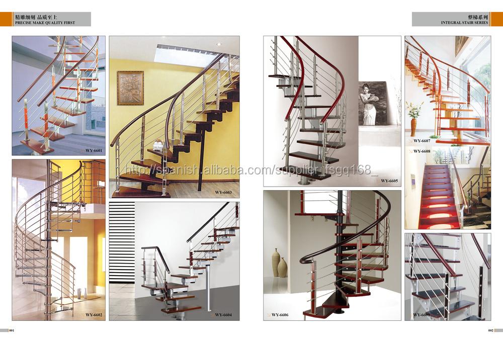 Escalera de caracol de pasamanos de la escalera espiral - Escaleras semi caracol ...