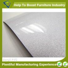 White high glossy solid pvc sheet cabinet membrane vacuum press pvc film furniture laminated pvc sheet