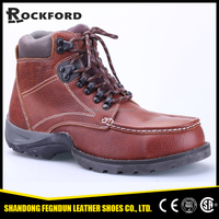 High class comfortable American genuine leather ankle work shoes for men FD6333