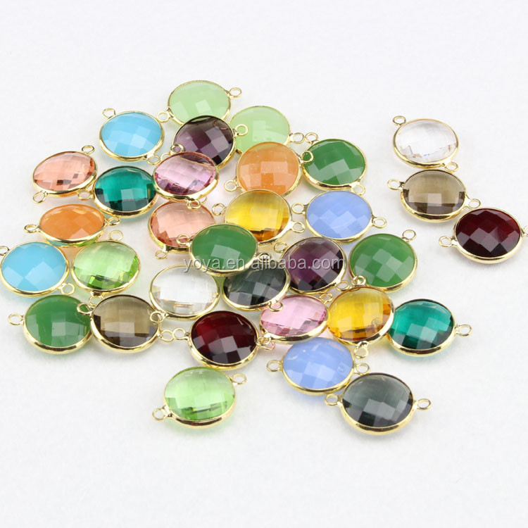 jfg0505 wholesale gemstone bezel connectors