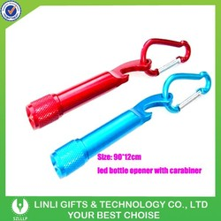 Promotional bottle opener keychain led with Carabiner