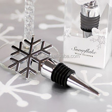 Elegant Snowflake Design Wine Bottle Stopper
