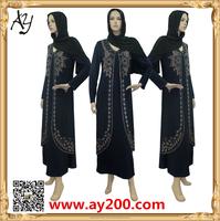 2015 Beading Muslim Clothes Dubai Abaya Fashion African Kaftans