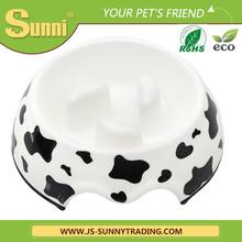 Custom design pet plastic bowl with handle