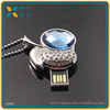 Promotional original chip bulk Jewelry USB flash stick with necklace