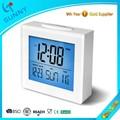 Sunny estación meteorológica reloj despertador Digital LCD con gran Snooze luz botón