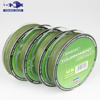 Wholesale OEM super strong fishing line 4 strands fishing braid line 150m moss green color fabric fishing line