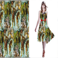 Digital Print Lady Silk Twill Fabric For Summer Dress