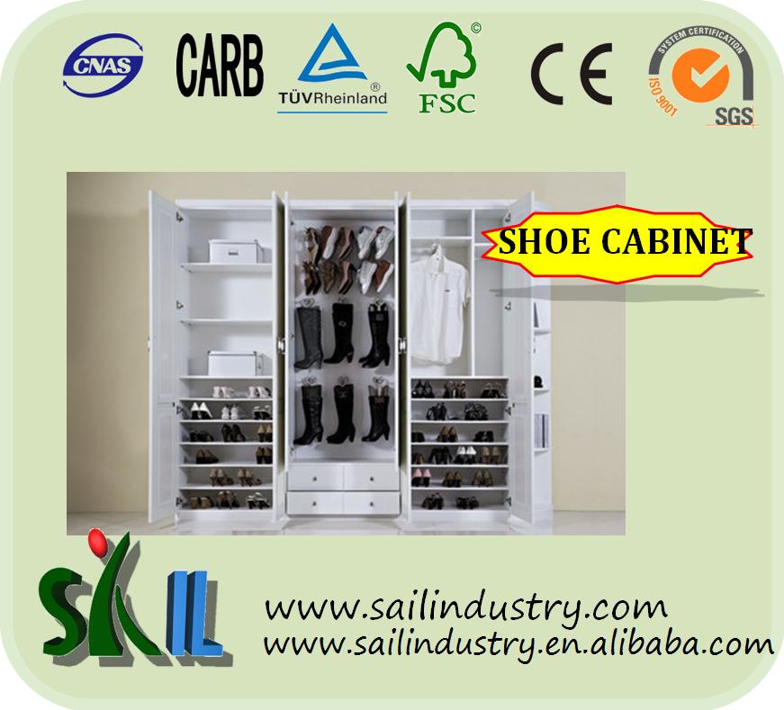 Ikea Wooden Shoe cabinet/Shoe rack, storage cabinet, 50 pairs shoe ...