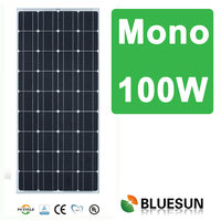 2015 hot selling high efficiency 100w mono hot sale solar panel