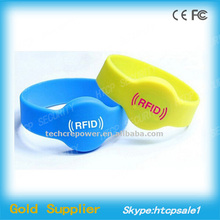 125KHz Silicon waterproof rfid bracelet tracking for event