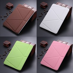 LETSVIEW Factory Wholesale Brand Bulk Order Cheapest Smart PU Flip Leather Case for Ipad Mini 1/2/3 Soft Back Cover Shell House