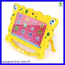 Hot Kids Tablet PC With EU Standard Safety Soft And Skincare Material Android 4.4 7 inch Kids Tablet PC Yellow