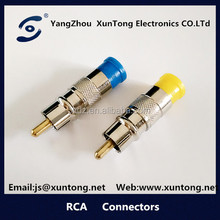 RCA Plug Gold Plated Audio Video Connector for Speaker Cable Amplifiers