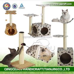 QQGY Factory Price Pet Products Corrugated Cardboard Cat Scratcher Sisal Cat Scratcher