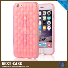 Low MOQ Ice Sculpture TPU Case For Iphone 6 with Ring Kickstand