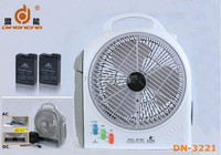 DINGNENG wholesales emergency & outdoor rechargeable led light table industrial fan