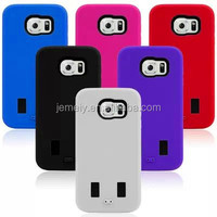 Free shipping New arrival silicon case hard plastic case two in one case For Samsung galaxy S6 G9200