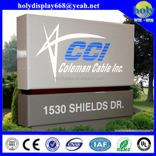 Outdoor aluminium pylon sign,building pylon sign,pylon sign for club branding/department