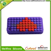 silicone cell phone case with blocks