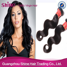 Natural color no chemical smells virgin remy cambodian hair weft