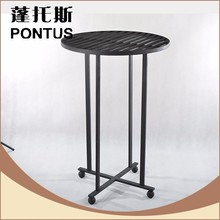 Best quality antique wrought iron high bar table design