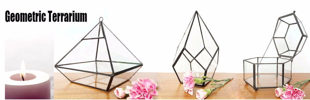 BEST SELLER>< unieke kegel driehoek glazen bloemenvaas hydrocultuur geometrische opknoping bruiloft:: moderne geometrische glazen bloemenvaas