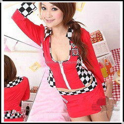 wholesale red and black polka dots suzuki racing suit