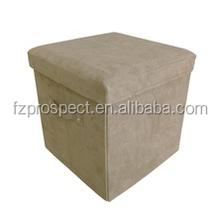 Microsuede leather pouf ottoman footstool,folding footstool