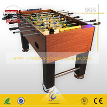 Cheap indoor amusement table soccer /foosball table game machine for sell