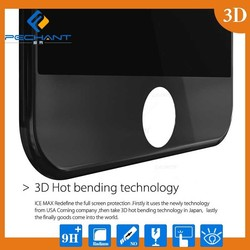 Real Full covered size 3D tempered glass transparent screen protector For iphone 6