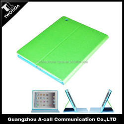 the newest design sheeny pu & tpu case for ipad standing leather case for ipad 4
