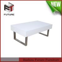 mechanism for lift up multifuction chromed coffee table