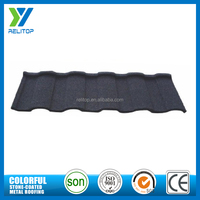Low price shingles roof tile/natural colorful stone coated metal roofing tile