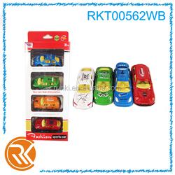 4pcs 1:64 children small metal slide toy cars