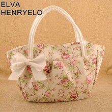 2013new style beautiful flower bags for girls,print PU fashion bow knot leisure handbags bags for women