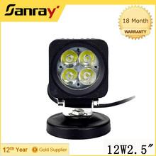 12w led work light car led headlight hot sxs 3 inch led light for truck