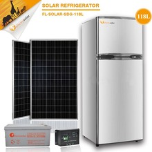 Kitchen appliance Good price ! FL--SDG-118L DC Solar refrigerator, Double door cooling automatic with high quality