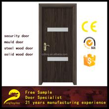 interior toilet pvc door design moulded wooden door with glass