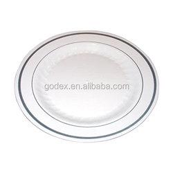Premium Quality Heavyweight Plastic Plates: 25 Dinner Plates and 25 Salad Plates