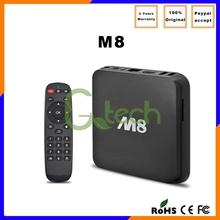2015 Best Selling Amlogic S802 Quad Core 8GB ROM XBMC KODI preinstalled Android Smart M8 tv box