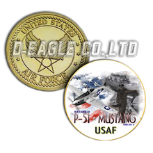 United States Military P-51 Custom Challenge Coin/ Custom Coin