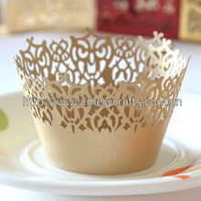 """High Quality Party Supply Wedding Favors! """"Victorian Lace"""" Wedding Cupcake Wrappers From Mery Crafts"""