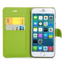 China new fashion design Smooth Soft PU leather flip standing phone wallet flip mobile phone cover