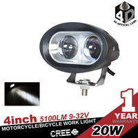 20w led motorcycle head light, led fog light for motorcycle/electric bike/bicycle/off road