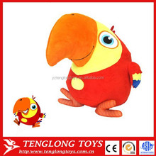 Personalized Custom Plush Toys Stuffed Bird as Artwork