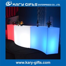 led cocktail bar portable curved bar counter night club